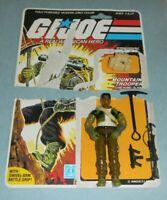 1985 GI Joe Mountain Climber Alpine v1 Figure w/ File Card Back & Accessory Lot