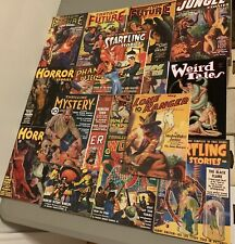 Lot of 15 Pulp Reprints (Captain Future, Horror Stories, Weird Tales, and MORE!)