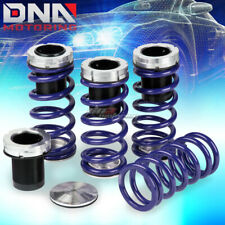 "FOR 240SX SILVIA S13/S14 1""-4"" SCALED SUSPENSION BLACK COILOVER BLUE SPRINGS"