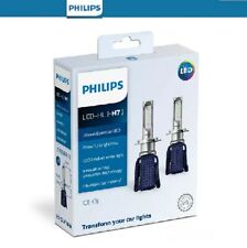 Philips H7 LED Ultinon Essential Head Light Globe Pair 12v 6000K 5 Year Lifespan