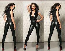 SEXY PVC LINGERIE Catsuit Jumpsuit Clubwear Party Fancy Dress  bl7008 S-L