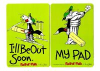 2 NOVELTY BOOKMARKS - CRICKETER - BORDER COLLIE - DOG - GIFT - DOUBLE SIDED