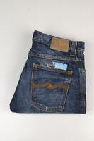 33494 Nudie Jeans Slim Jim Org. Dark Neps Bleu Hommes Jean Taille 32/32