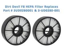 2 Dirt Devil F8 Vacuum HEPA Filters Part # 3UD0280001 + 2 Dirt Devil 12 Belts
