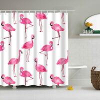 LP Fashion Rosa Flamingo Wasserdicht Textil Duschvorhang Badewannenvorhang 180cm