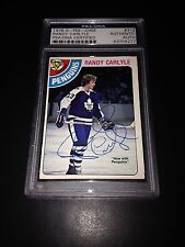Randy Carlyle Signed 1978-79 O-Pee-Chee OPC Rookie Card PSA Slabbed #83704277