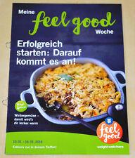 Weight Watchers Meine Feel Good Woche 10.1-16.1 SmartPoints 2016 Wochenbroschüre