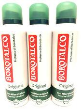 BOROTALCO ROBERTS Deodorant Spray Original 3 x 150ml mit Mikrotalk