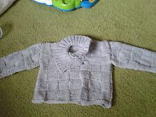 Baby boy Hand knitted jumper, 3-6 mths