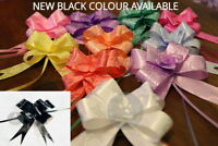 10 Pull Bows 30MM Wedding Car Gift Wrap Ribbon Florist Pew Xmas Decorations all