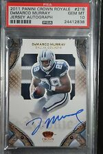 2014 PANINI CROWN ROYALE DeMARCO MURRAY AUTO HUGE PATCH 073/299 MUST SEE PSA 10