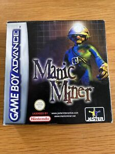 Nintendo Gameboy Advance Manic Miner Game Boxed With Manual