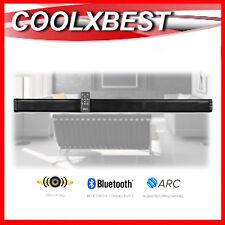 NEW 2.0ch TV SOUND BAR SPEAKER w BLUETOOTH ARC HDMI USB WALL MOUNT 30w RMS