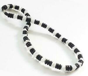 """Black Coco Wooden Beads Shell Surfer Choker Necklace Men's Teen's 18"""""""