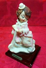 1987 G. ARMANI Porcelain Cute Boy Clown Figurine With Scooter - Rare Vintage