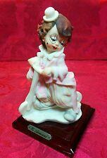 1987 G. ARMANI Porcelain Cute Boy Clown Figurine With Scooter - Rare Vintage