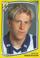 064 GUSTAF ANDERSSON # SWEDEN IFK.GOTEBORG STICKER FOTBOLL ALLSVENSKAN 2000