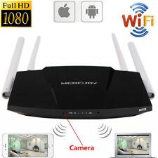Mini 1080P WIFI HD SPY Hidden IP Camera Router Wireless Video Nanny Recorder Cam