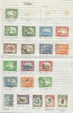 ADEN  GEOVI / QE2  PART SETS TO 10/-   FINE USED AND  MINT ON ALBUM PAGE