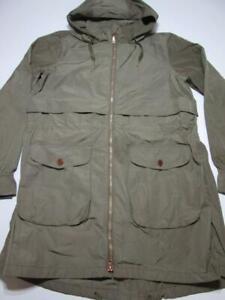 Mountain Hardwear Womens Size XL Parka Coat Khaki Full Front Zipper Hooded