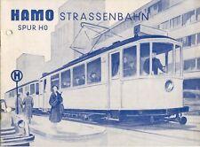 catalogo HAMO 1954 STRASSENBAHN Spur HO + Preisliste DM          D     aa