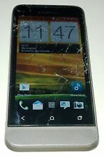 HTC One V - 4GB - Grey (Cricket) Smartphone Cracked GlassBad WiFi