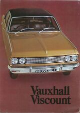 Vauxhall Viscount PC 1970-71 Original UK Sales Brochure Pub No V1983 Cresta