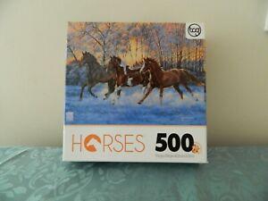 New Puzzle Horses Sunlit Splendor By TCG 500pcs Sure-Lox 16105YTDG Age 12+