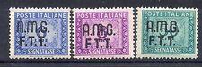 FRANCOBOLLI SEGNATASSE 1947/49 TRIESTE LIRE 6+8+50 MLH D 4329