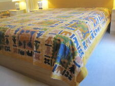 K11-HANDMADE BLOCK PRINT KANTHA EMBROIDERY BEDSPREAD THROW SOFA COVER WALLHANGIN