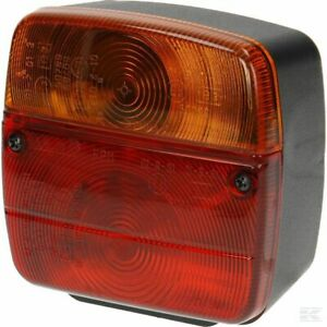 Rear Lamp/Light With Number Plate Light - 108 x 103mm - Bulbs & Lens