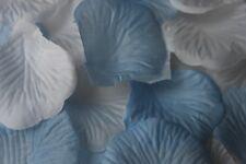 x 1000 blanc et bébé bleu pétale de rose en soie Décoration table Mariage