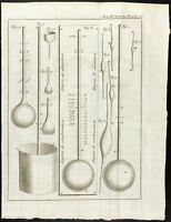 1777 - Gravure ancienne thermomètre - Académie Royale des Sciences