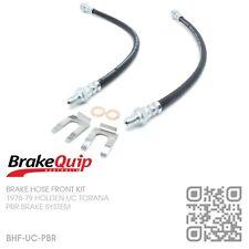 BRAKEQUIP PBR CALIPER BRAKE HOSE FRONT KIT [HOLDEN UC TORANA S/SL/DELUXE]