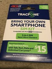 Tracfone Byop Bring Your Own Phone Sim Card 3/1 Kit Gsm