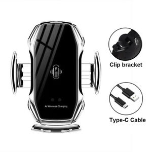 AI Smart Sensor Car Phone Holder Wireless Fast Charger For Iphone/Samsung/Huawei