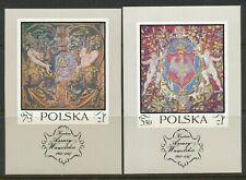 Poland-1970 Fi # 1901-02 Bl76,77 Sc # 1779 B124,-Mnh