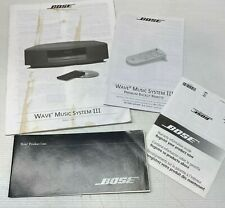 New listing Bose Wave Iii Music System Owners Guide User Manual, Original