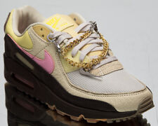 Nike Air Max 90 Cuban Link Women's Velvet Brown Pink Lifestyle Sneakers Shoes