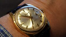 "BULOVA AEROJET Men""s Automatic Watch Date New Band Swiss Made 1965's GC RUNS"