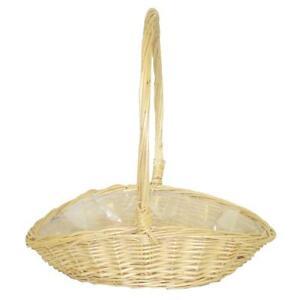 Bridesmaid Flower Girl Wedding Oval Wicker Basket
