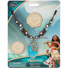 Authentic Disney Store REDESIGNED Princess MOANA SINGING SHELL Necklace w/ Sound