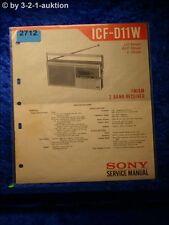 Sony service manual ICF d11w (#2712)