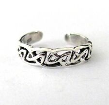 Sterling Silver Celtic infinity knot toe ring