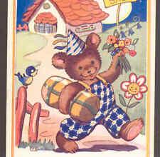 "BIRTHDAY TEDDY BEAR VISIT ""SWEET SHOP"",HARFORD POSTCARD"