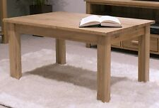 Nero solid oak furniture small coffee table with felt pads