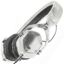V-Moda XS Compact Noise-Isolating On-Ear Folding Metal Headphones (White Silver)