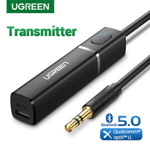 UGREEN Bluetooth 5.0 Sender Klinke Bluetooth Audio Adapter für Fernseher, PS4