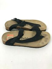 Betula Womens Footbed Strappy Sandals Black Womens  Shoes 10 Mens 8 (K4)