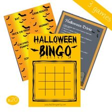 Halloween 3 Game Party Pack - NEW 2019 - Bingo Charades Trivia - Witch Ghost